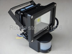 PIR 10 Watt led flood light,flood light led we also have pir 20w 30w 50w 100lm/w