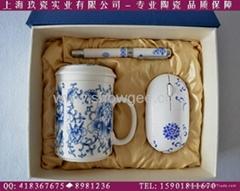 上海青花瓷笔礼品套装