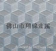 彩色不锈钢压纹立体方格橱柜台面装饰板