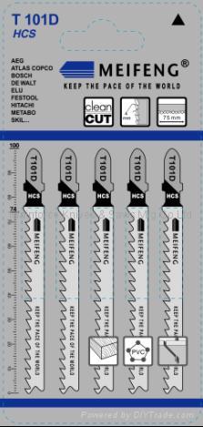 曲线锯条 T101系列 1