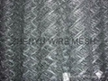 galvanised chain link fence