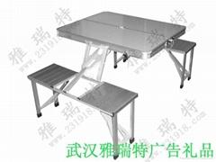 连体折叠桌椅