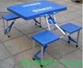 供應塑料連體折疊桌椅