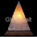 Pyramid Cutwork salt lamp