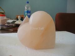 Large Heart Salt Lamp
