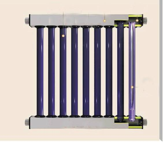 UNIQUE two-ends open evacuated  tube collector system for Air Heating / Drying