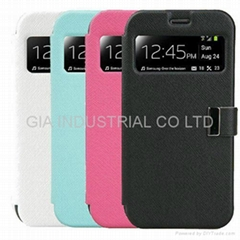 Smart View Window Flip Cover Folio Case for Samsung Galaxy S4 SIV S IV i9500