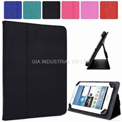 Universal Adjustable Tablet Clamping Folding Protective Case Cover with Stand