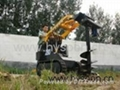 Mini Skid Steer Loader With Auger Drill 1
