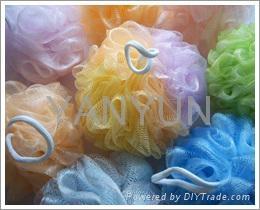浴球花型双色浴擦搓澡巾 1