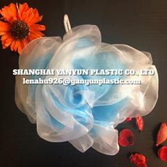 Bath Sponge Mesh Ball Body Cleaning Puff FLOWER SHAPE Extruded Net PP PE