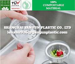 歐盟認証生物可降解塑料下水道排水廚余垃圾濾網網套
