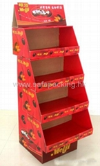 chocolate cardboard display rack for supermarket promotion