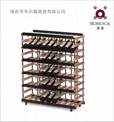 波多0.9米45瓶商用红酒全商标展示架