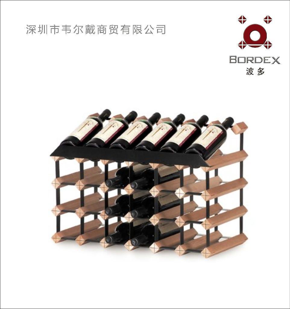 波多24瓶柜台式红酒展示架  1
