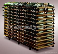 波多2米双面商用红酒展示架