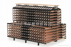 波多2米背对背梯形商用红酒展示架葡萄酒架