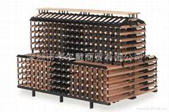 波多2米背對背梯形商用紅酒展示架葡萄酒架