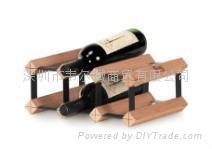 实木葡萄酒架波多6瓶装组装式红酒展示架