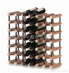 实木红酒架波多42瓶组装式红酒展示架