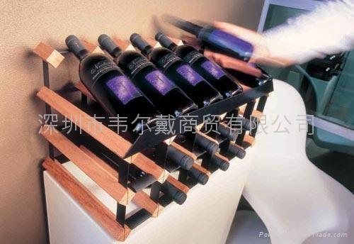 波多24瓶柜台式红酒展示架  2