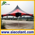 4x4m High Peak Tent black/red strip color event tent