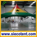 High quality cheap custom high peak Ghana National flag square marquee tent