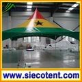 High quality cheap custom high peak Ghana National flag square marquee tent