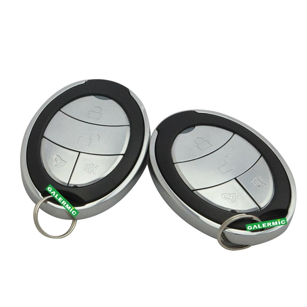 Remote engine start car alarm system with automatic