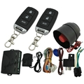 One way car alarm system with remote car door lock unlock trunk release function