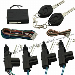 Remote door lock system with 1 master actuator and 3 slave actuator by remote