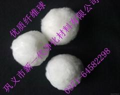 Water purification filter material fiber