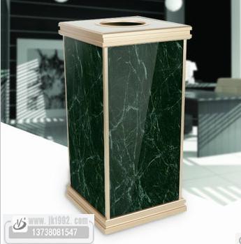 绿色大理石果皮箱 1