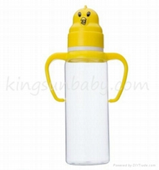 Animal Cap Plastic Baby Feeding Bottle Regular Neck Nursing Bottle 240ml