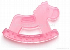 Horse Design Baby Teether Infant Silicone Teething Toy Non-toxic BPA Free