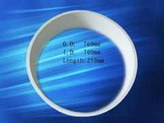 big diameter wear resistant alumina ceramic tube
