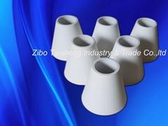 wear resistant alumina ceramic tapered tube