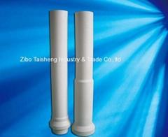 aluminum titanate riser tube for low pressure die casting
