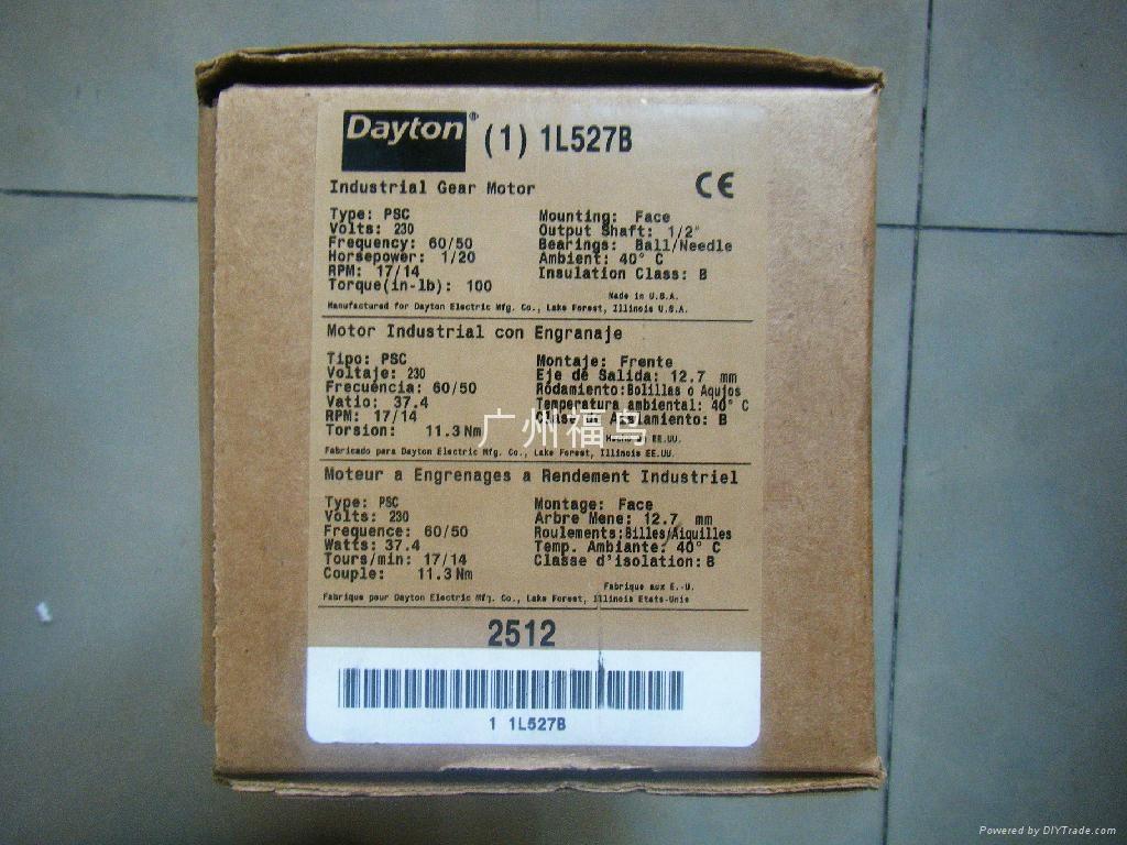 DAYTON电机, 马达, 型号: 1L527