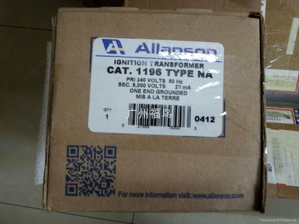 ALLANSON點火變壓器, 型號: 1196-NA