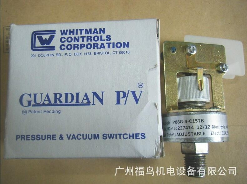 WHITMAN CONTROLS压力开关, 型号: P88G-4-C15TB