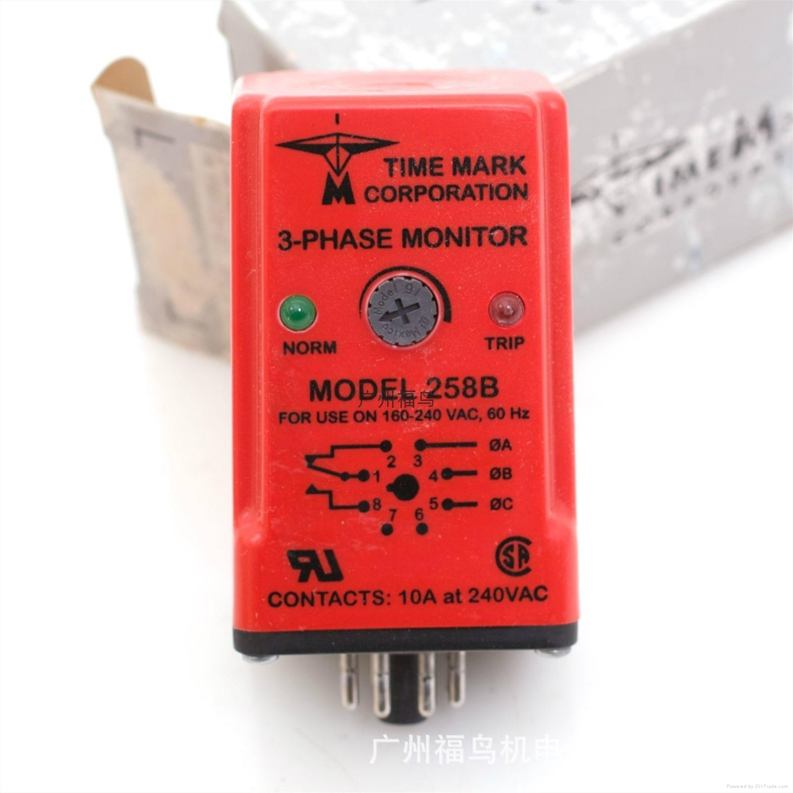 TIME MARK相序檢測器, 三相監控器, 型號: 258B