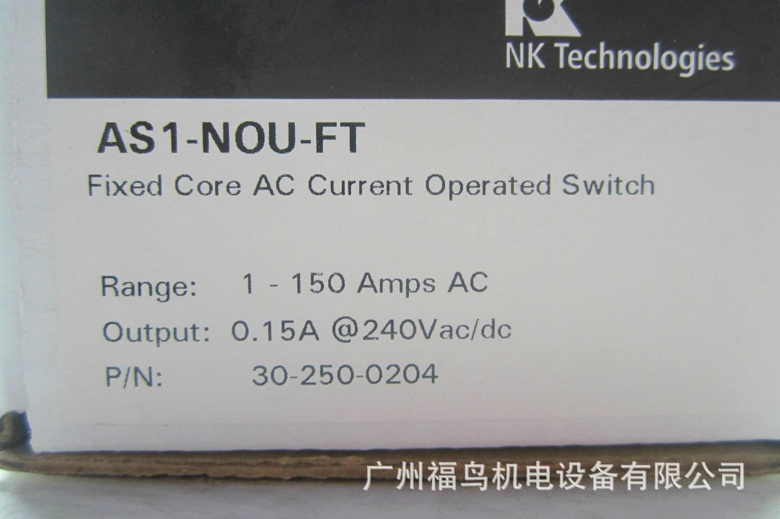 NK TECHNOLOGIES电流传感器, 型号: AS1-NOU-FT