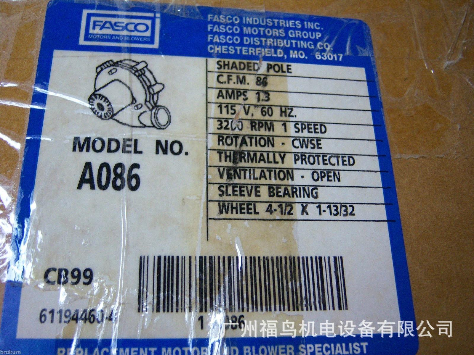 FASCO风机, 型号:  A086