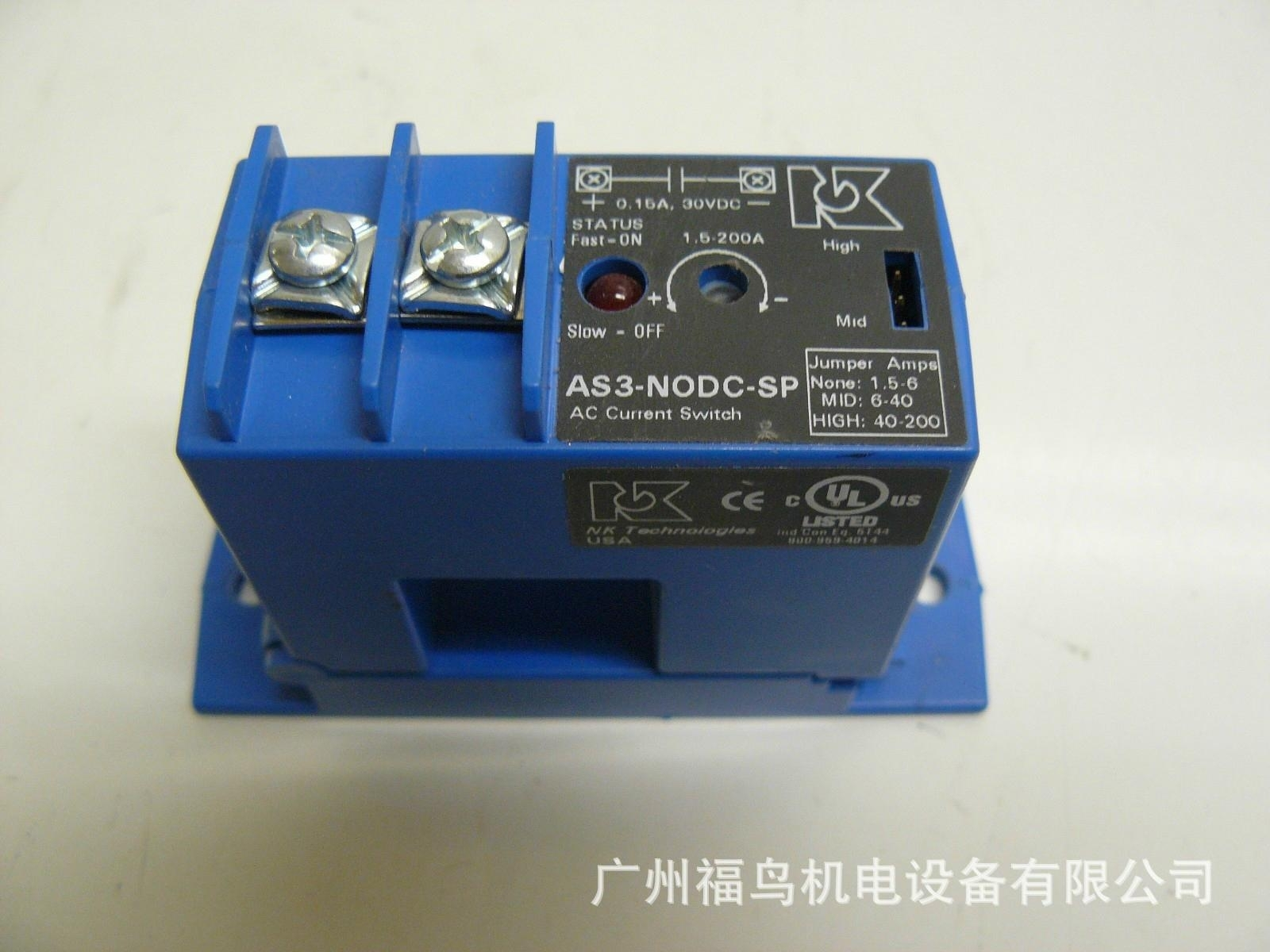 NK TECHNOLOGIES電流傳感器, 型號: AS3-NODC-SP
