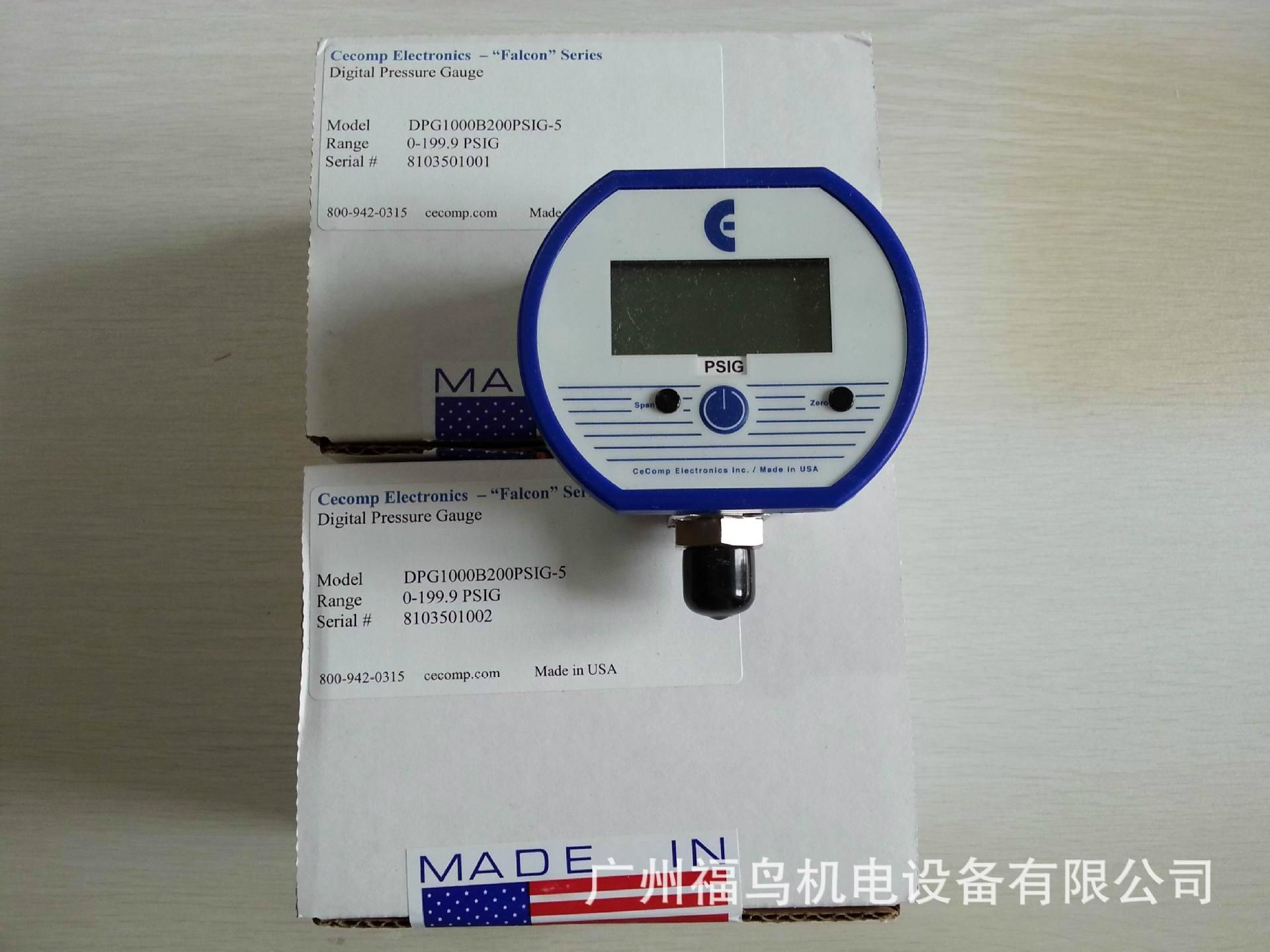 CECOMP数显压力表, 型号: DPG1000B200PSIG-5