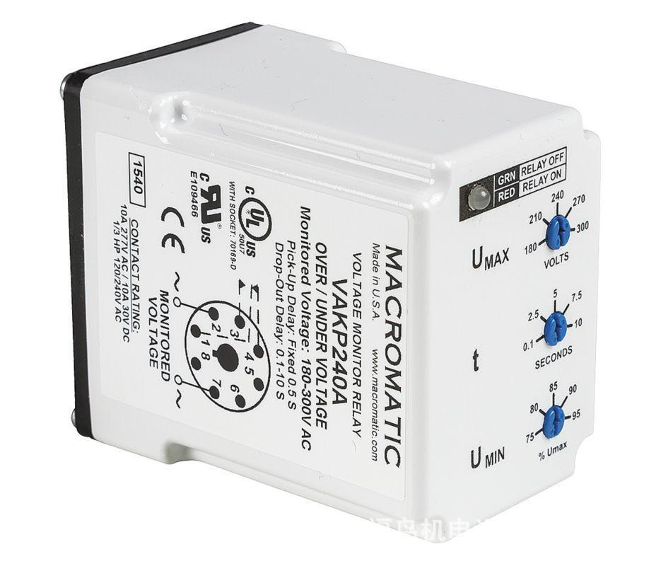 供应MACROMATIC电压监控继电器(VAKP240A, VAKPU) 6