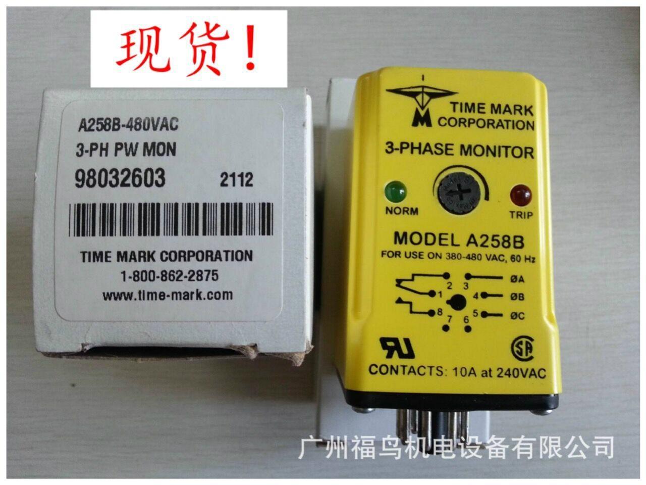 TIME MARK相序检测器, 三相监控器, 型号: A258B
