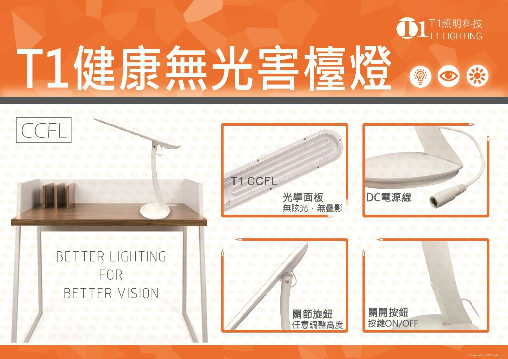 T1 COMFORTABLE DESK LAMP, NOT LED