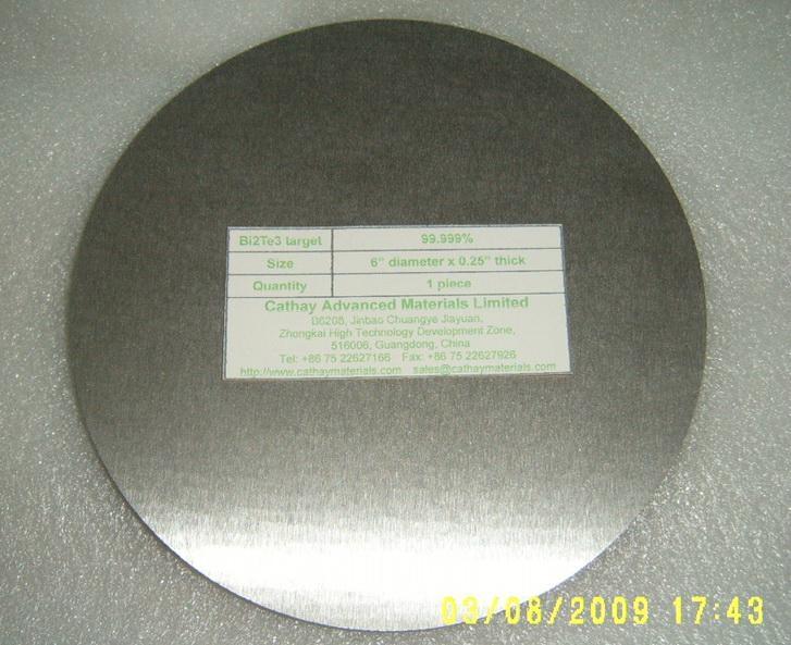 Bismuth Telluride Bi2Te3 target 1